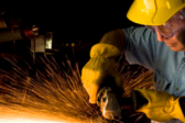 Steelworker Showered With Molten Metal