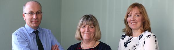 Macks' Wills and Probate team David Graham, Lynda Monks and Kerry Brundall